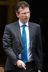 Downing Street, London, October 11th 2016. Government ministers leave the first post-conference cabinet meeting. PICTURED: Attorney General Jeremy Wright