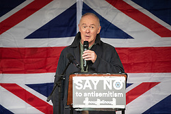 © Licensed to London News Pictures . 16/09/2018. Manchester, UK. Leader of Manchester City Council SIR RICHARD LEESE . Thousands of people including the UK's Chief Rabbi and several Members of Parliament attend a demonstration against rising anti-Semitism in British politics and society , at Cathedral Gardens in Manchester City Centre . Photo credit : Joel Goodman/LNP