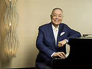 Pianist Liu Shikun poses for a portrait on 28 June 2016 in Grand Hyatt hotel, Hong Kong, China. Photo by Victor Fraile / studioEAST
