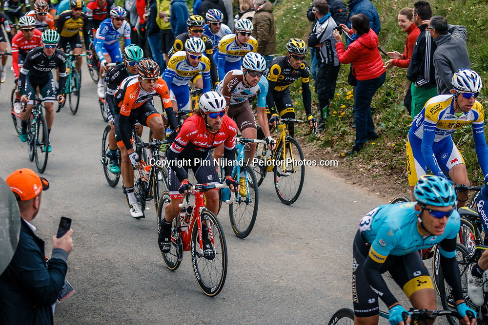 Peloton during the UCI WorldTour 103rd Liège-Bastogne-Liège from Liège to Ans with 258 km of racing at Cote de Pont, Belgium, 23 April 2017. Photo by Pim Nijland / PelotonPhotos.com | All photos usage must carry mandatory copyright credit (Peloton Photos | Pim Nijland)