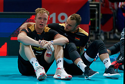 23-09-2019 NED: EC Volleyball 2019 Poland - Germany, Apeldoorn<br /> 1/4 final EC Volleyball - Poland win 3-0 / Jan Zimmermann #17 of Germany