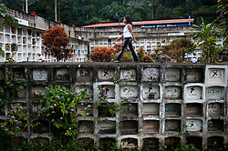 Cemetery in La Merced, Chanchamayo, in the central rainforest of Peru.