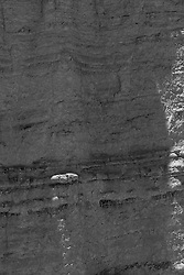 detail of a rock formation in Abiquiu, New Mexico