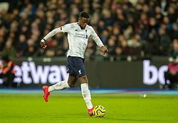 LONDON, ENGLAND - Wednesday, January 29, 2020: Liverpool's Divock Origi during the FA Premier League match between West Ham United FC and Liverpool FC at the London Stadium. (Pic by David Rawcliffe/Propaganda)