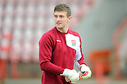 Northampton Town goalkeeper Adam Smith before the Sky Bet League 2 match between Exeter City and Northampton Town at St James' Park, Exeter, England on 16 April 2016. Photo by Graham Hunt.