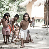 Batak children play in northeast Palawan, Philippines