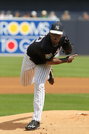 March 18, 2018 - Tampa, FL, U.S. - TAMPA, FL - MAR 18: Luis Severino (40) of the Yankees delivers a pitch to the plate during the game between the Miami Marlins and the New York Yankees on March 18, 2018, at George M. Steinbrenner Field in Tampa, FL. (Photo by Cliff Welch/Icon Sportswire) (Credit Image: © Cliff Welch/Icon SMI via ZUMA Press)