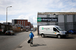 Embargoed to 0001 Saturday April 28 A general view of the Enterprise vehicle rental depot in Salamander Street, Leith, Edinburgh, as the company was the highest rated worldwide vehicle rental firm with 78\% in an annual survey by Which? Travel magazine. Budget firm InterRent car hire has recorded the lowest customer satisfaction rating of any operator in seven years, according to the consumer group.
