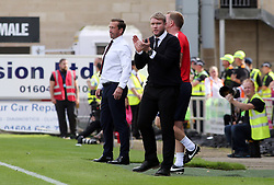 Peterborough United Manager Grant McCann encourages his players from the touchline - Mandatory by-line: Joe Dent/JMP - 26/08/2017 - FOOTBALL - Sixfields Stadium - Northampton, England - Northampton Town v Peterborough United - Sky Bet League One
