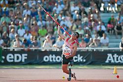 MANO Yuki, JPN, Javelin, F42, 2013 IPC Athletics World Championships, Lyon, France