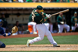 OAKLAND, CA - JULY 23:  Ben Zobrist #18 of the Oakland Athletics at bat against the Toronto Blue Jays during the sixth inning at O.co Coliseum on July 23, 2015 in Oakland, California. The Toronto Blue Jays defeated the Oakland Athletics 5-2. (Photo by Jason O. Watson/Getty Images) *** Local Caption *** Ben Zobrist