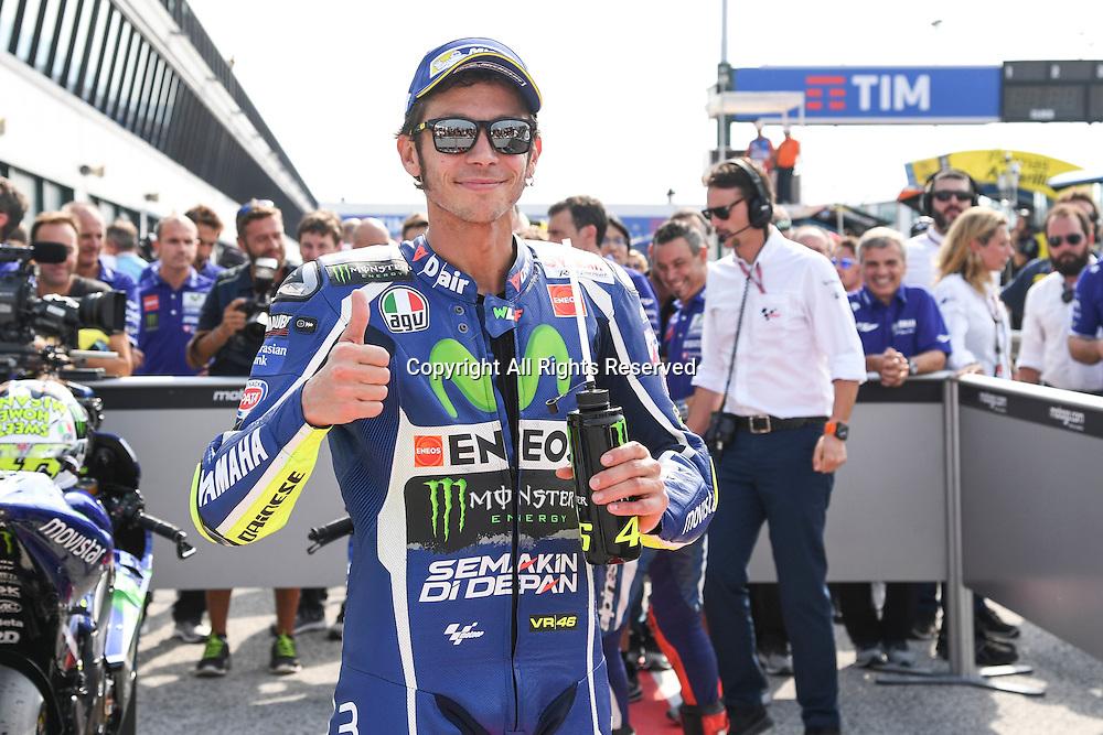 10.09.2016. Misano World Circuit, Rimini, Italy. MotoGP Grand Prix of San Marino, Qualifying sessions. Valentino rossi takes 2nd on pole