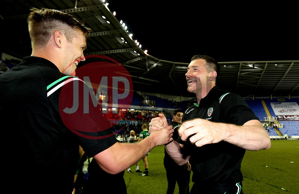London Irish Director of Rugby Nick Kennedy celebrates winning the Greene King IPA Championship - Mandatory by-line: Robbie Stephenson/JMP - 24/05/2017 - RUGBY - Madejski Stadium - Reading, England - London Irish v Yorkshire Carnegie - Greene King IPA Championship Final 2nd Leg