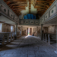 An abandoned palace in East Germany. This is the family church