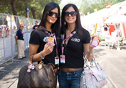 Models at start point of the 198 km long 3rd stage from Grado, Italy to Valdobbiadene, Italy at 92nd Giro d'Italia, on May 11, 2009, in Grado, Italy.  (Photo by Vid Ponikvar / Sportida)