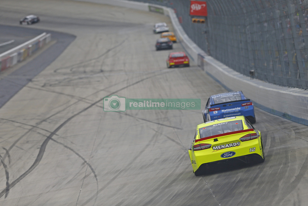 May 6, 2018 - Dover, Delaware, United States of America - Ryan Blaney (12) battles for position during the AAA 400 Drive for Autism at Dover International Speedway in Dover, Delaware. (Credit Image: © Justin R. Noe Asp Inc/ASP via ZUMA Wire)