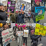 More than 200,000 protesters attended the march in New York on Saturday January 19,2019.  Thousands also turned out in Washington, Los Angeles, Chicago, Philadelphia, Rome and hundreds of other cities and towns.<br /> <br /> Women took to the streets of Manhattan  January 2019, in a show of solidarity with for the 3rd  Women's Day March to voice their anger again at President Trump.<br /> <br /> Both men and women attended rally on Central Park West before the start of the march holding signs in protest against President Trump.  <br /> <br /> 1) Third Women's March - GOR-166702-cE19<br /> 2) Third Women's March NYC - GOR-166708-cEcR19<br /> 3) Third Women's March NYC - GOR-166764-cE19<br /> 4) Third Women's March NYC - GOR-166764-cE19<br /> 5) Third Women's March - GOR-166694-cE19<br /> 6) Third Women's March NYC - GOR-166690-cE19