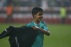June 7, 2018 - Lisbon, Lisbon, Portugal - Portugal forward Cristiano Ronaldo son Cristianinho plays with is father at the end of the International Friendly match between Portugal and Algeria at the Estadio do Sport Lisboa e Benfica on June 7, 2018 in Lisboa, Portugal. (Credit Image: © Dpi/NurPhoto via ZUMA Press)