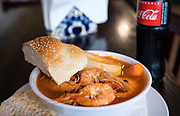 Caldo de camaron (Shrimp soup) at El Panzon Panaderia in Madison, Wisconsin, Thursday, June 20, 2019.