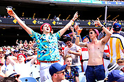 Some English fans during the Magellan fourth test match between Australia v England at  the Melbourne Cricket Ground, Melbourne, Australia on 26 December 2017. Photo by Mark  Witte.
