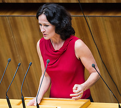 03.07.2013, Parlament, Wien, AUT, Parlament, 213. Nationalratssitzung, Sitzung des Nationalrates. im Bild Gruene Klubobfrau und Nationlarratsabgeordnete Eva Glawischnig // Leader of the parliamentary group the greens and member of the parliament Eva Glawischnig<br />  during the 213th meeting of the national assembly of austria, austrian parliament, Vienna, Austria on 2013/07/03, EXPA Pictures © 2013, PhotoCredit: EXPA/ Michael Gruber