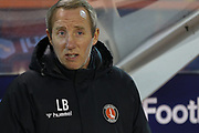 Charlton Athletic manager Lee Bowyer during the EFL Sky Bet Championship match between Nottingham Forest and Charlton Athletic at the City Ground, Nottingham, England on 11 February 2020.