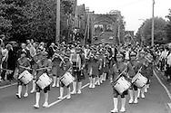 Woolley and Barrow banners, 1983 Yorkshire Miner's Gala. Barnsley