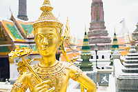 Gold statue Wat Phra Kaew near Royal Grand Palace Bangkok Thailand&#xA;<br />