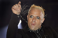 JAMES BOARDMAN / 07967642437 - 01444 412089 .Keith Flint of the Prodgy performs on stage during the first day of the  Isle of Wight Festival at Seaclose Park on 9th June, 2006 in Newport, England... .