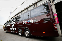 The new Bristol Sport team bus - Photo mandatory by-line: Rogan Thomson/JMP - 07966 386802 - 14/09/2014 - SPORT - RUGBY UNION - Leeds, England - Headingley Carnegie Stadium - Yorkshire Carnegie v Bristol Rugby - Greene King IPA Championship.