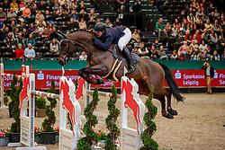 WULSCHNER Benjamin (GER), Pure Boy T<br /> Leipzig - Partner Pferd 2020<br /> FUNDIS Youngster Tour<br /> Finale für 8jährige Pferde<br /> Zwei-Phasen Springprfg., int.<br /> Höhe: 1.40 m<br /> 19. Januar 2020<br /> © www.sportfotos-lafrentz.de/Stefan Lafrentz