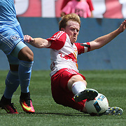 HARRISON, NEW JERSEY- JULY 24:  Dax McCarty #11 of New York Red Bulls in action during the New York Red Bulls Vs New York City FC MLS regular season match at Red Bull Arena, Harrison, New Jersey on July 24, 2016 in Harrison, New Jersey. (Photo by Tim Clayton/Corbis via Getty Images)