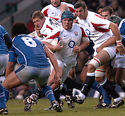 2005 Rugby, Investec Challenge, England vs Manu Samoa, Matt Stevens, breaking with the ball as England beat Samoa 40 points to 3 at the   RFU stadium, Twickenham, ENGLAND:     26.11.2005   © Peter Spurrier/Intersport Images - email images@intersport-images..