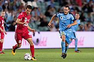 SYDNEY, NSW- NOVEMBER 21: Sydney FC midfielder Joshua Brillante (6) chases down Adelaide United midfielder Isaias (8) at the FFA Cup Final Soccer between Sydney FC and Adelaide United on November 21, 2017 at Allianz Stadium, Sydney. (Photo by Steven Markham/Icon Sportswire)