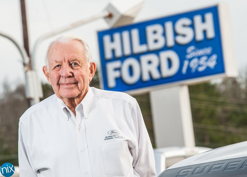 Buddy Hilbish at Hilbish Ford in Kannapolis.