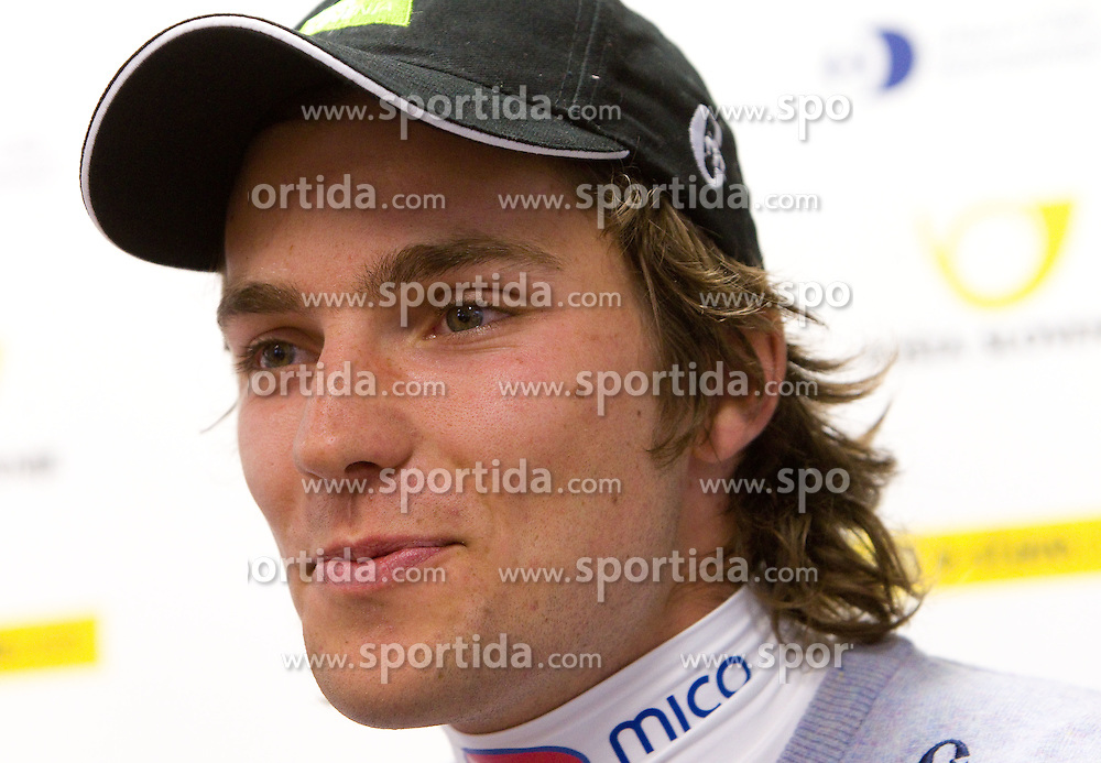 Miha Kurner during press conference of Slovenian Alpine Ski team team before FIS Ski World Cup Opening race in Soelden (AUT) on October 18, 2010 in Ljubljana, Slovenia. (Photo by Vid Ponikvar / Sportida)
