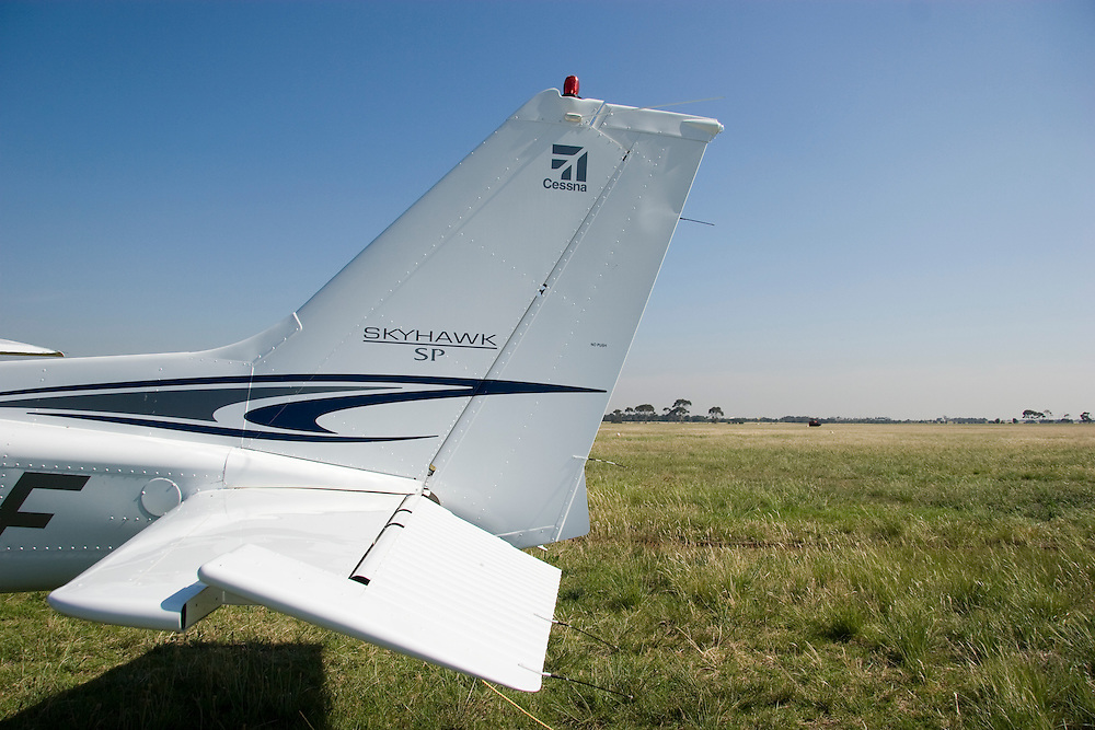 Tail detail of a Cessna 172 skyhawk