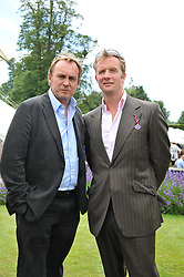 Left to right, actors PHILIP GLENISTER and RUPERT PENRY-JONES at a luncheon hosted by Cartier for their sponsorship of the Style et Luxe part of the Goodwood Festival of Speed at Goodwood House, West Sussex on 1st July 2012.