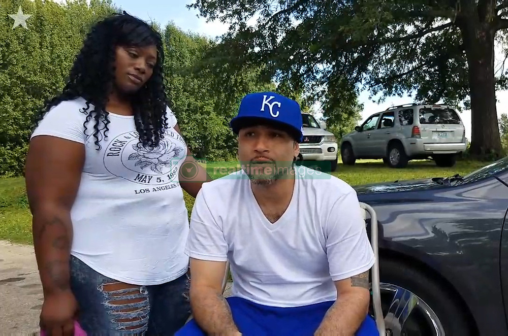 June 22, 2017 - USA - Richard Anthony Jones, seated next to his girlfriend, Nayisha Duncan, talks about being released from prison after serving 17 years for a crime he did not commit. In 1999, a self-described crackhead pointed at a photo and fingered Jones as the perpetrator of a robbery three months earlier, setting in motion what would become a 17-year nightmare for Jones - and a textbook example of the now well known dangerous unreliability of eyewitness testimony and flawed police photo lineups. (Credit Image: © Toriano Porter/TNS via ZUMA Wire)