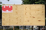 Nederland, Nijmegen, 2-8-2012Verkiezingsbord met affiches voor de komende verkiezingen voor de tweede kamer.Netherlands, election board with posters for the forthcoming national elections. SP, socialistische partij, socialist partyFoto: Flip Franssen/Hollandse Hoogte