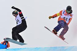 World Cup SBX, SUUR-HAMARI Matti, FIN, ZABALA EGANA Oier, ESP at the 2016 IPC Snowboard Europa Cup Finals and World Cup