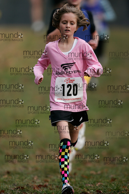 King City, Ontario ---09-11-15--- Stephanie Knowles of the AGSI Flyers competes at the Athletics Ontario Cross Country Championships in King City, Ontario, November 16, 2009..GEOFF ROBINS Mundo Sport Images