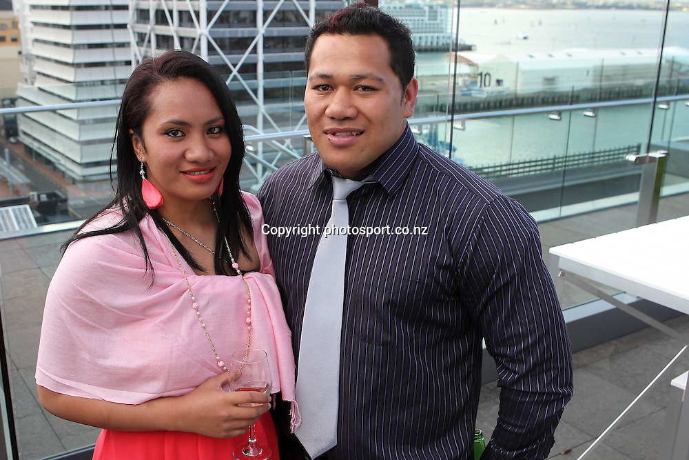 2012 New Zealand Rugby League Awards at Westpac House, Britomart. Soape Kavaliku and his wife Keke. Auckland Wednesday, November 7
