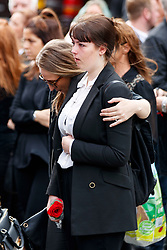 © Licensed to London News Pictures. 29/06/2017. London, UK. Members of the family attend the funeral of Grenfell fire victim Tony Disson takes place at Our Lady of the Holy Souls RC church in the Notting Hill area of west London on 29 June 2017. Mr Disson is one of only a handful of the 80 victims to have been identified and named so far. Photo credit: Tolga Akmen/LNP