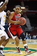 13 March 2010:   Toledo's Jessica Williams (23) and Ball State's Jade Barber (32) during the MAC Tournament game basketball game between Ball State and Toledo and  at Quicken Loans Arena in Cleveland, Ohio.