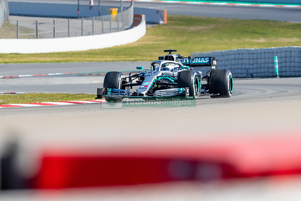 February 18, 2019 - Montmelo, Catalonia, Spain - Valtteri Bottas of Mercedes AMG Petronas Formula One Team seen in action during the afternoon session of the first day of F1 Test Days in Montmelo circuit. (Credit Image: © Javier MartíNez De La Puente/SOPA Images via ZUMA Wire)