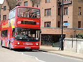 OPEN TOP BUS IN CAMBRIDGE