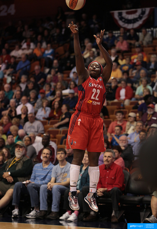 Matee Ajavon, Washington Mystics, in action during the Connecticut Sun V Washington Mystics WNBA regular season game at Mohegan Sun Arena, Uncasville, Connecticut, USA. 7th June 2013. Photo Tim Clayton