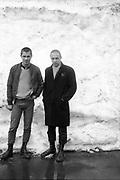 Edema and Sean in Switzerland, 1980s.