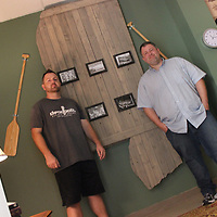 RAY VAN DUSEN/BUY AT PHOTOS.MONROECOUNTYJOURNAL.COM<br /> From left, Shawn and Jason Brannon, stand in the Magnolia Mystery room of Deadbolt Escape Rooms in Tupelo. The brothers' escape room business has attracted approximately 15,000 since opening last summer.